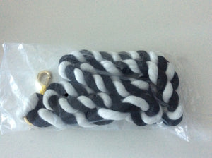 Black/White Snaks Lead Rope