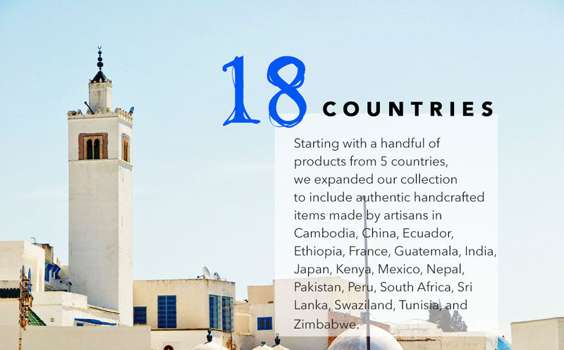 MINZUU is working with artisans in 18 countries across the globe