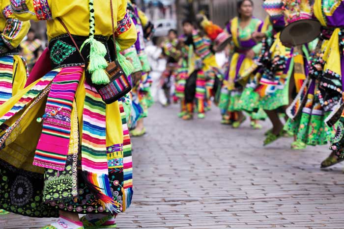 Peruvian Pom Poms: Dancing Girls in Festival Costumes