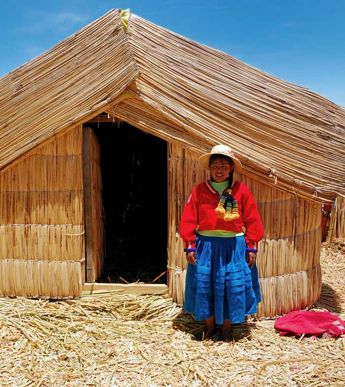 Peruvian Pom Poms: A Native Girl on the Islands of Uros