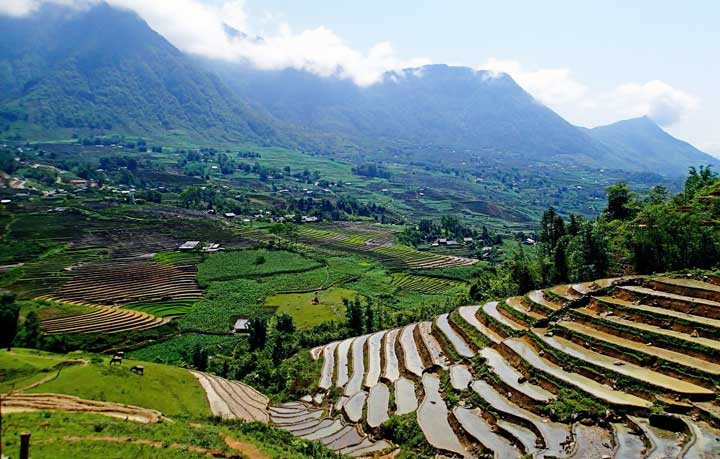 The Sapa Mountains in Vietnam