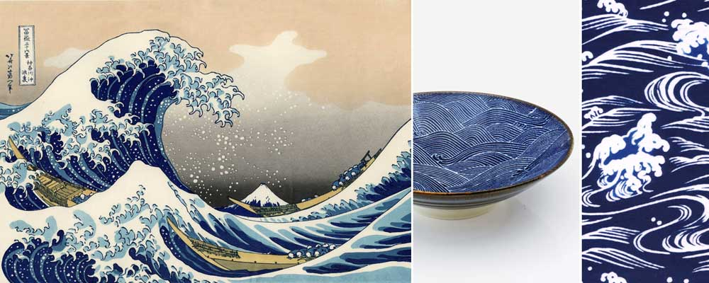 Derived from the works of Katsushika Hokusai, the widely-loved Aranami pattern depicts raging waves