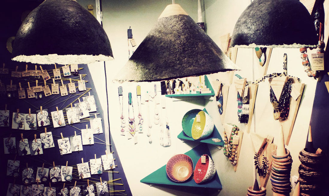 Quazi Design Lamp Shades, Bowls, and Jewelry