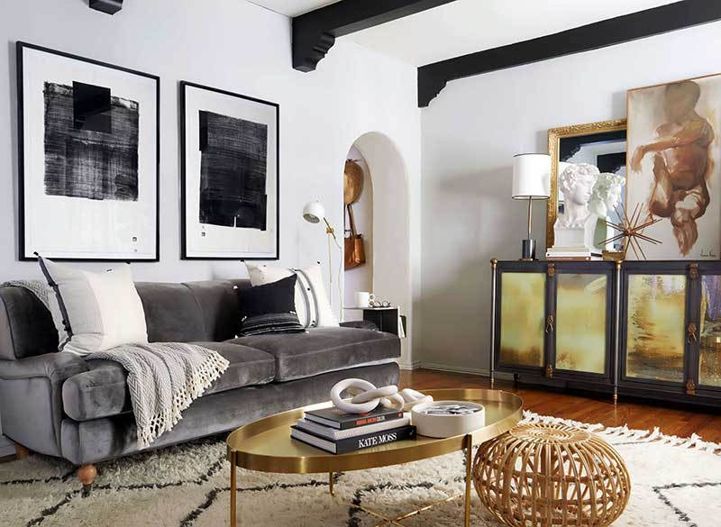 Eclectic Decorating: Brady's living room