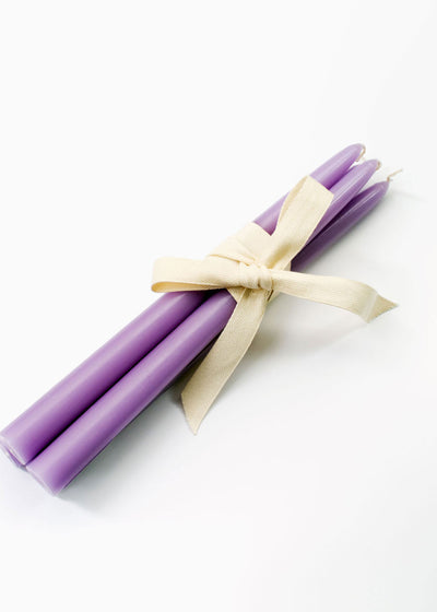 Bougies la Francaise Pastel Taper Candles, Lilac