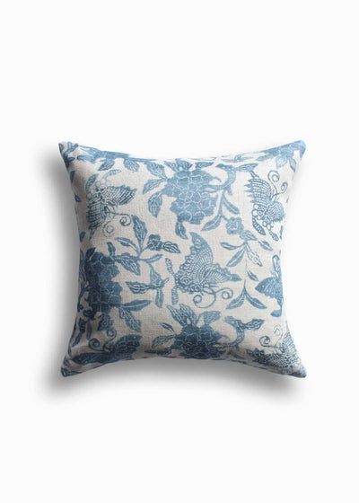 LuRu Home Peony and Butterfly Pillow