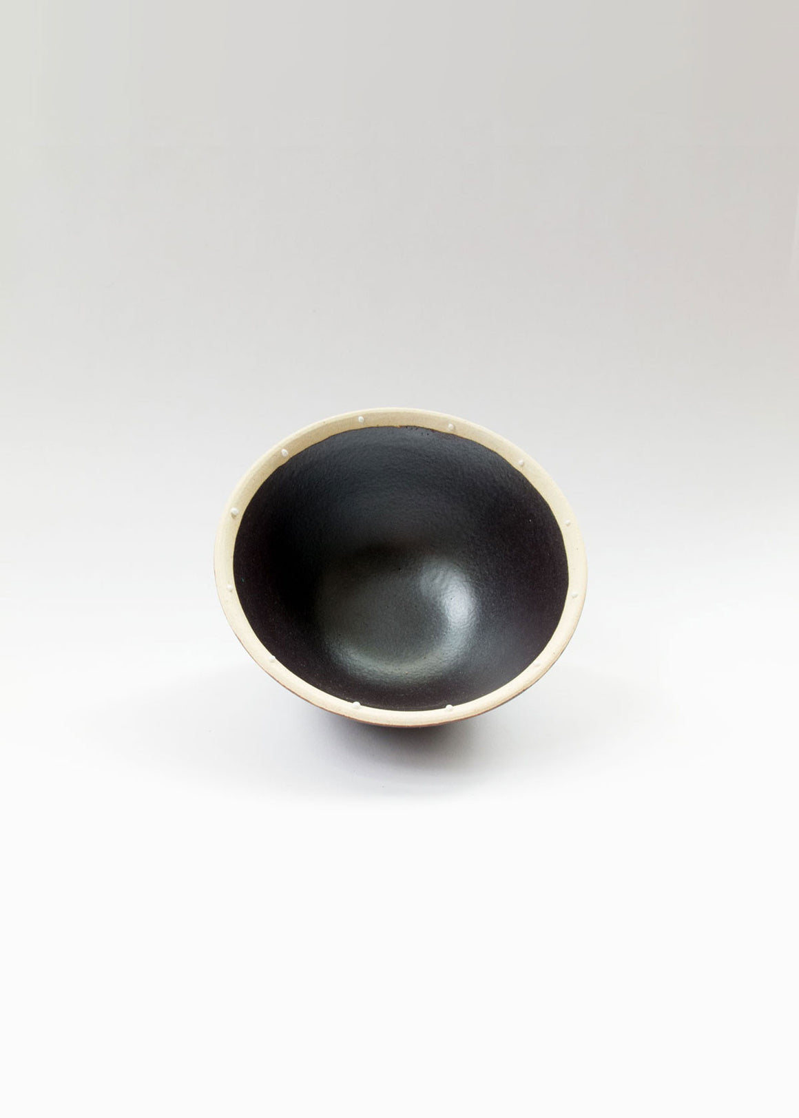 Japanese Ceramics Dotted Onyx Mini Bowl