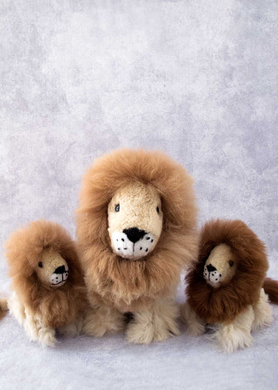 Alpaca fiber stuffed animal lion