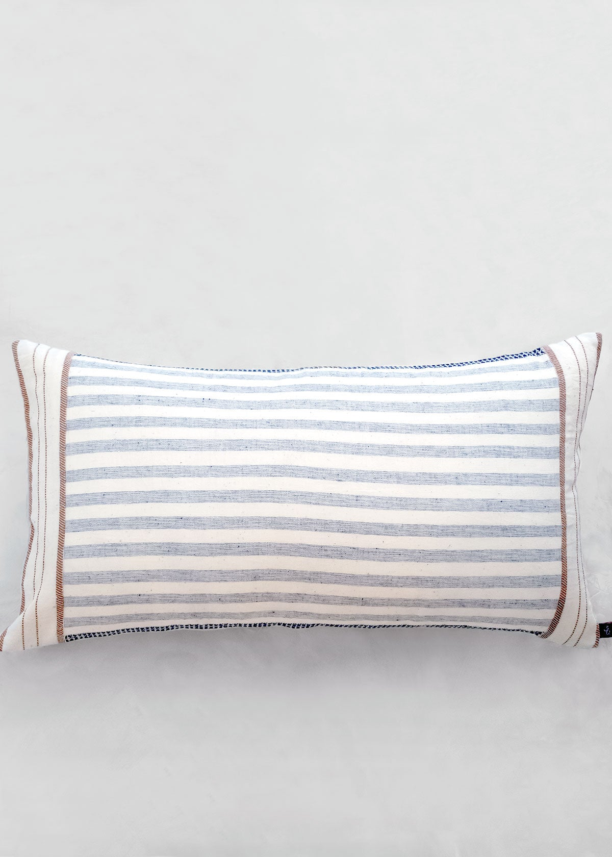 Ichcha Woven Stripe Cotton Pillow