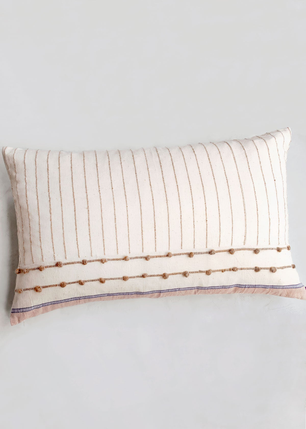 Knotted Pebbles Pillow, Cotton & Wool