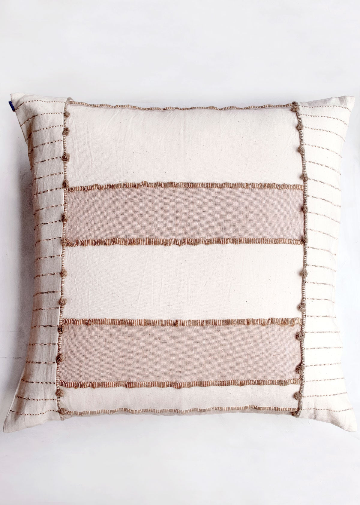 Cotton and Wool Terracotta Blocks Pillow