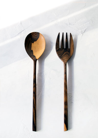 Itza Wood Salad Servers, Set of 2