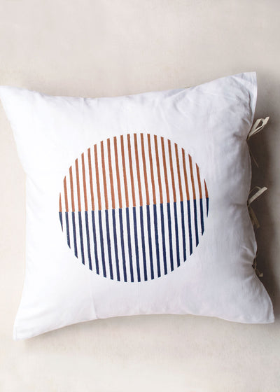Karu Rising Sun Block Printed Pillow