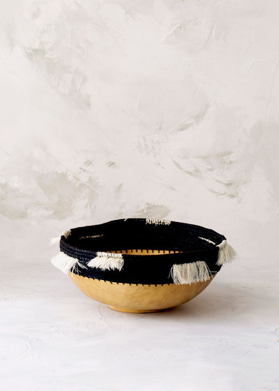 Fringed Wooden Bowl