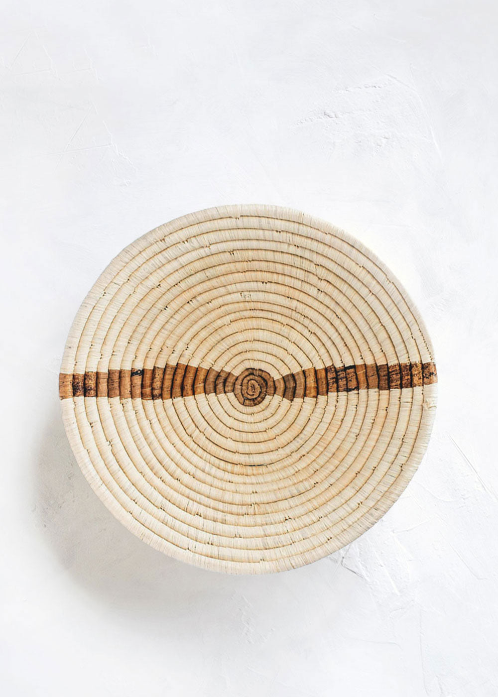 Kazi Banana Bark Striped Basket