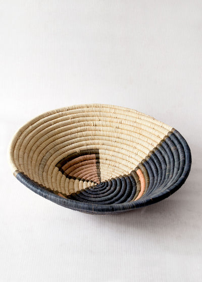 Kazi Peach Halo Raffia Basket