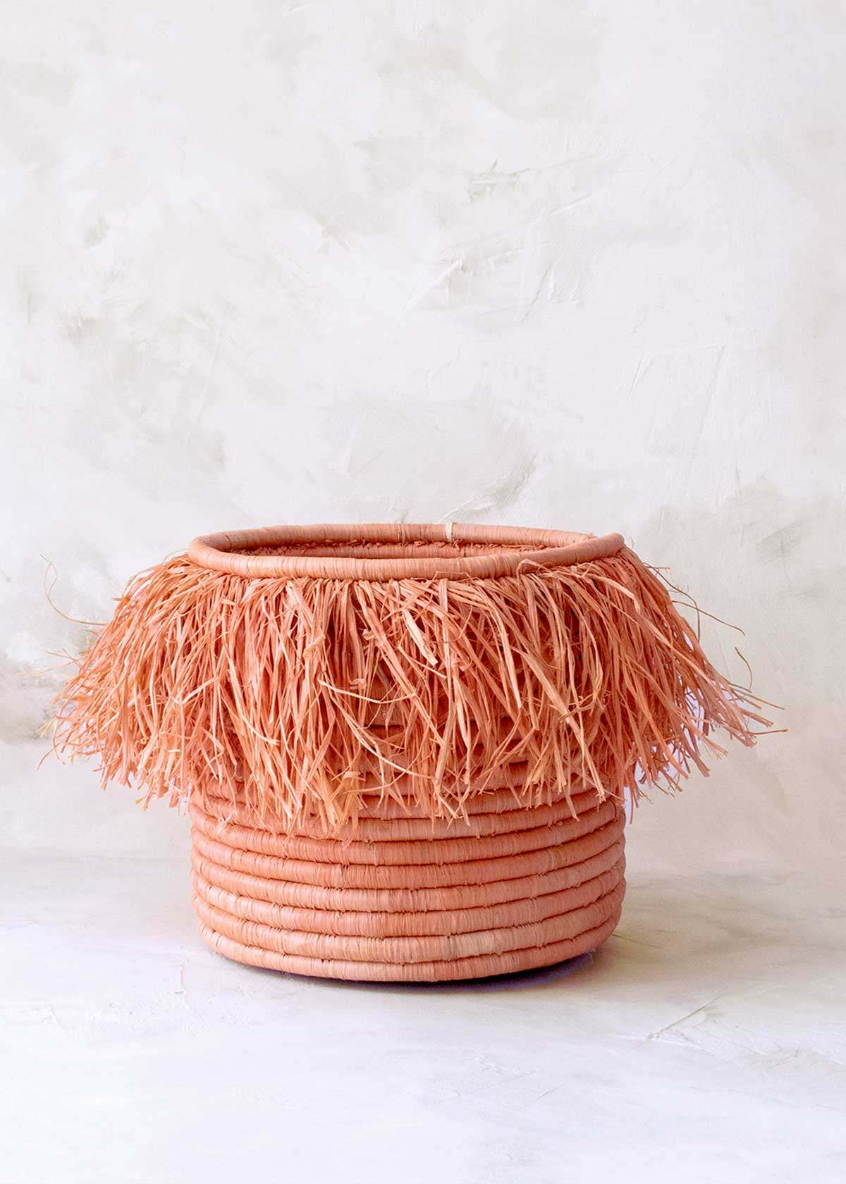 Fringed Palm Basket