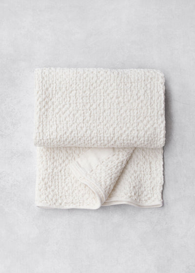 Kontex Lattice Linen Towel, Ivory
