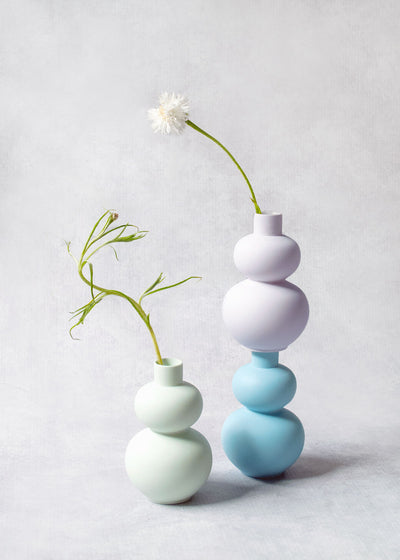 Color Clay Mini Vase, Double Lobed