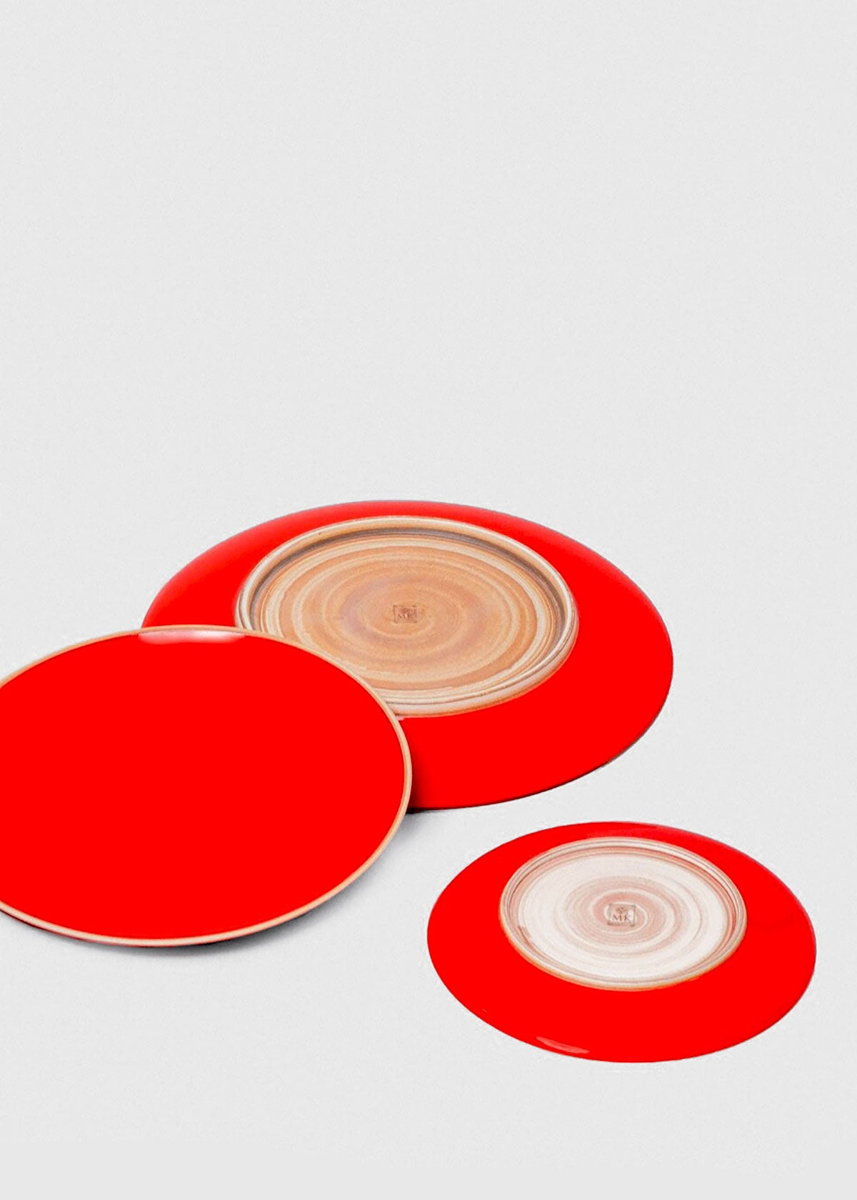 Hermit Plate, Coral Red