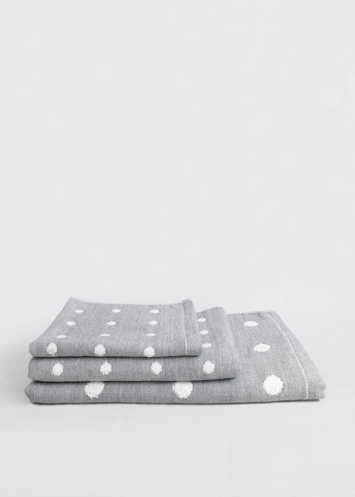 Charcoal Infused Polka Dot Towel