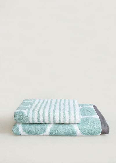Celadon Cobble Cotton Terry Towel, Imabari, Japan