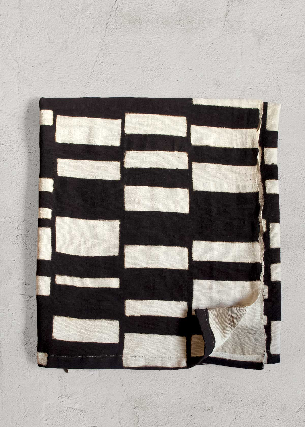 Ndomo Mud Cloth Throw, handmade in Mali