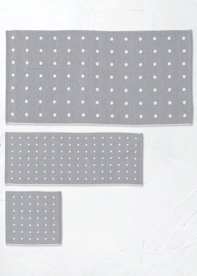 Charcoal Infused Polka Dot Towel, Imabari, Japan