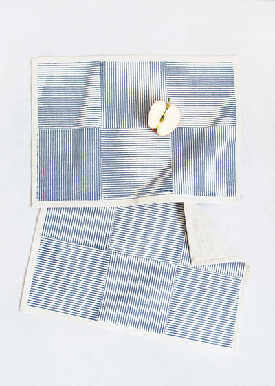 Sustainable Threads Azure Shadow Placemat