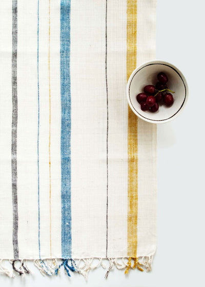 Sustainable Threads Raw Silk Table Runner