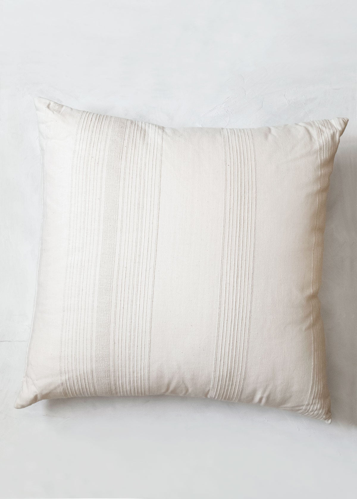 Sustainable Threads Whipped Cream Handwoven Pillow