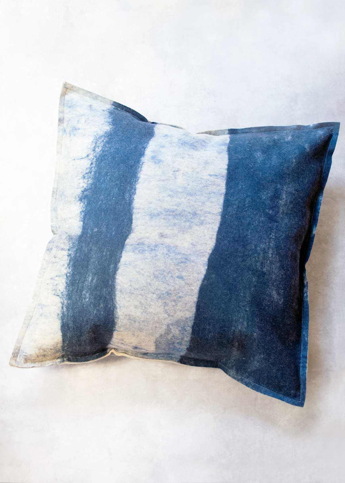 Unnu Rothko Pillow, hand felted wool