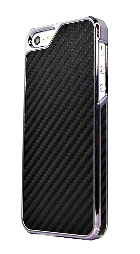 iPhone 5 5S SE Carbon Fiber metallic edge case