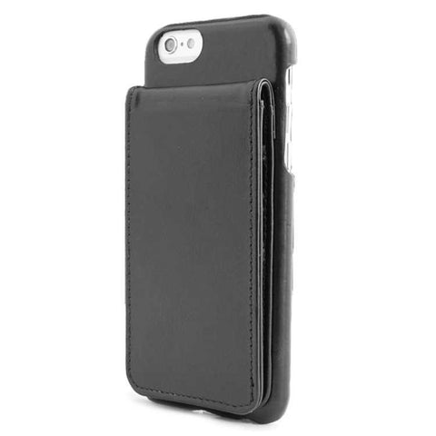 iPhone 6 Black Classic Genuine Leather wallet case combo case
