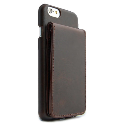iPhone 6 Brown Classic Genuine Leather wallet case combo case