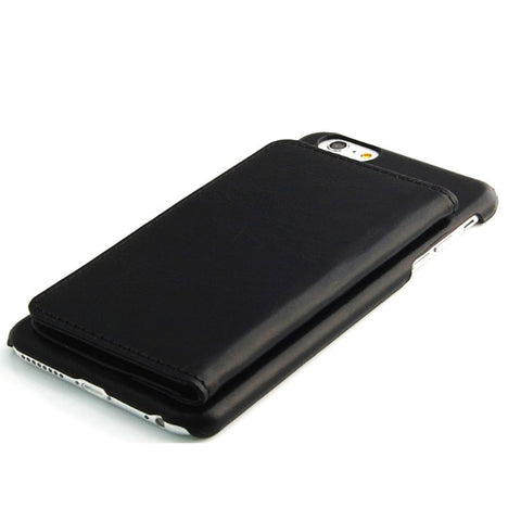 iPhone 6 Plus Black Classic Genuine Leather wallet case