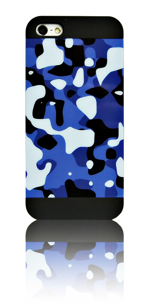iPhone 5 5S SE blue Camo Pattern case