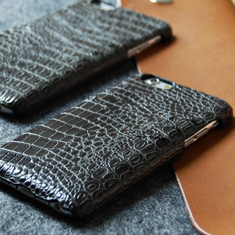 iPhone 6 6S genuine leather Slim wallet case black color