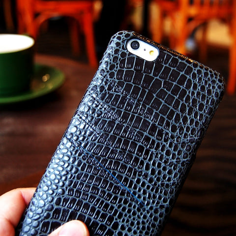 iPhone 6 6S Plus genuine leather Slim wallet case black color