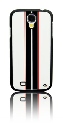 Samsung galaxy S4 Racing Strip case White/Black