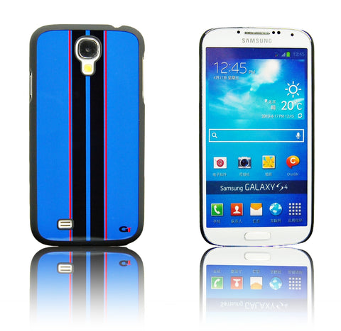 Samsung galaxy S4 Racing Strip case Blue/Black