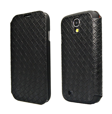 Samsung galaxy S4 Fashion Weave PU leather case