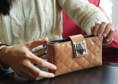 SmartPhone fashion Clutch wallet Tan color