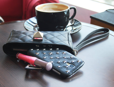 SmartPhone fashion Clutch wallet Black color
