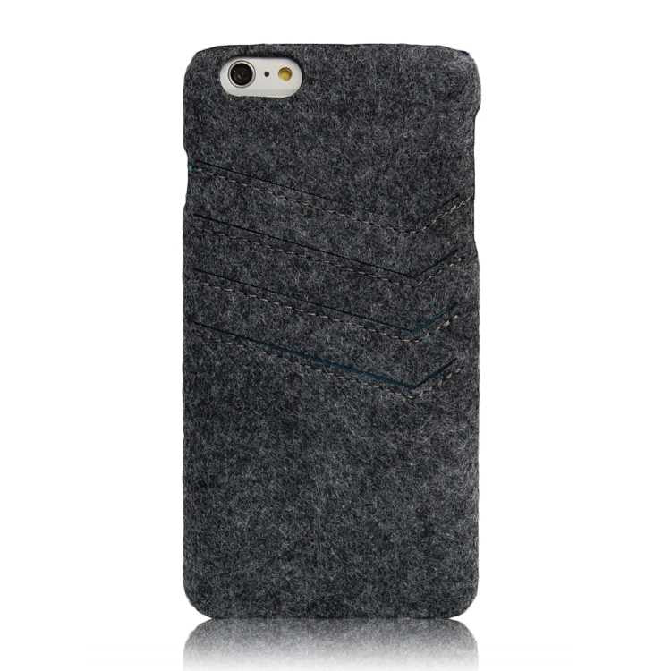Felt slim wallet case for iPhone 6 Plus
