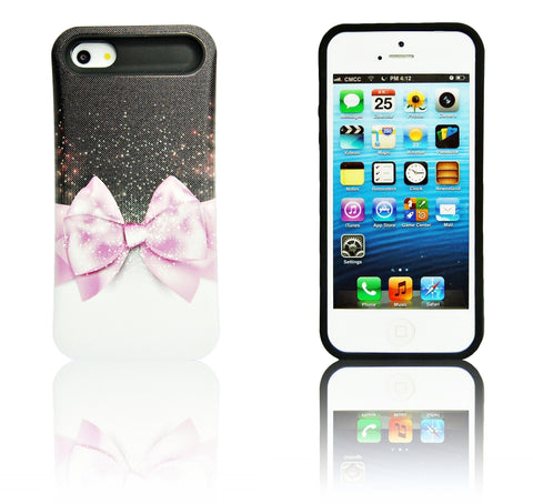 iPhone 5 5S SE pink bow tie case