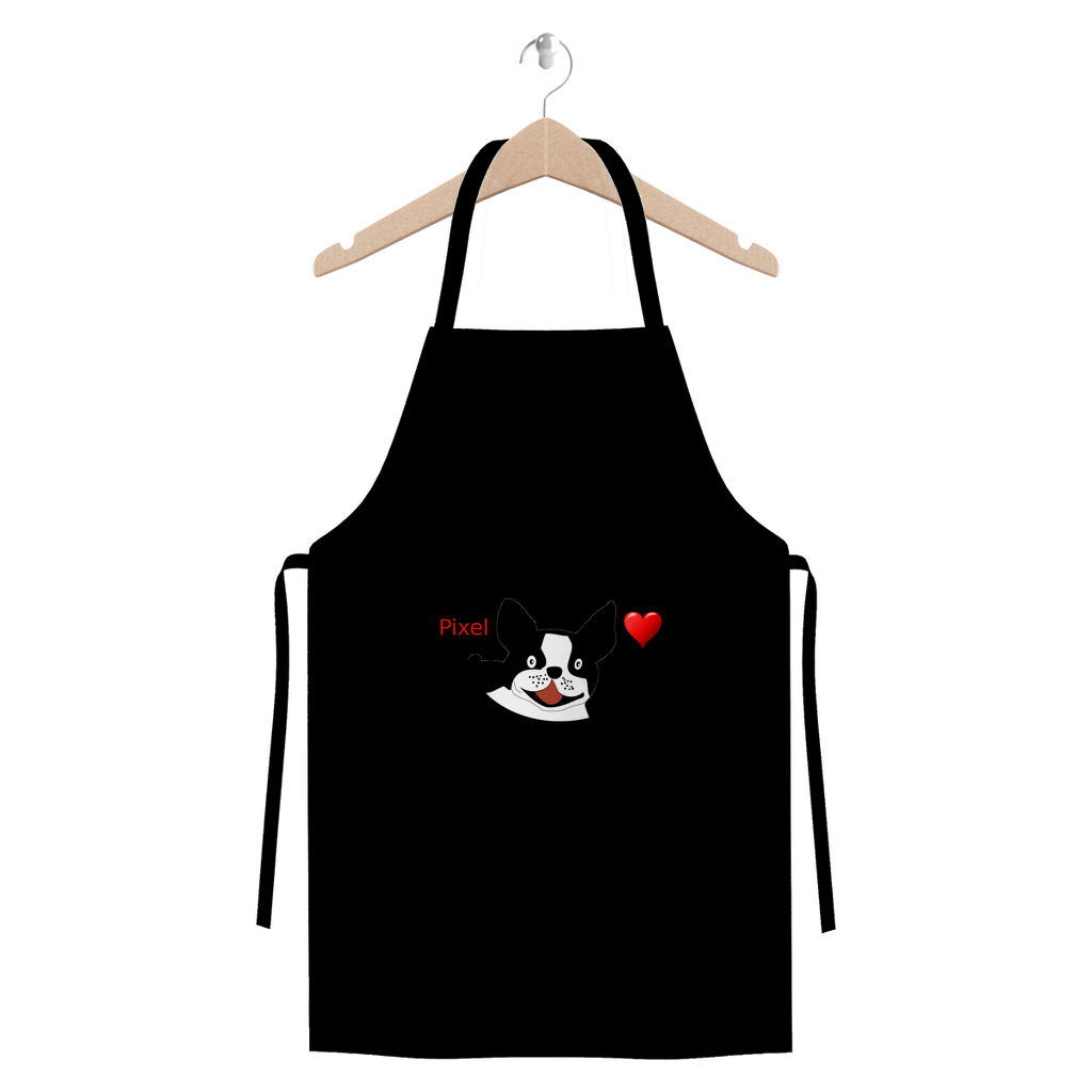 Love Boston Terriers Premium Jersey Apron