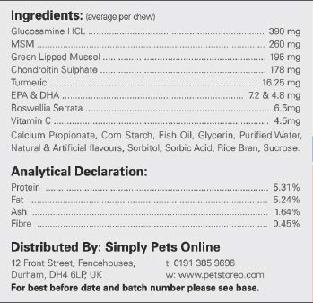 FlexiK9 Small Dog Joint Supplement | Petstoreo