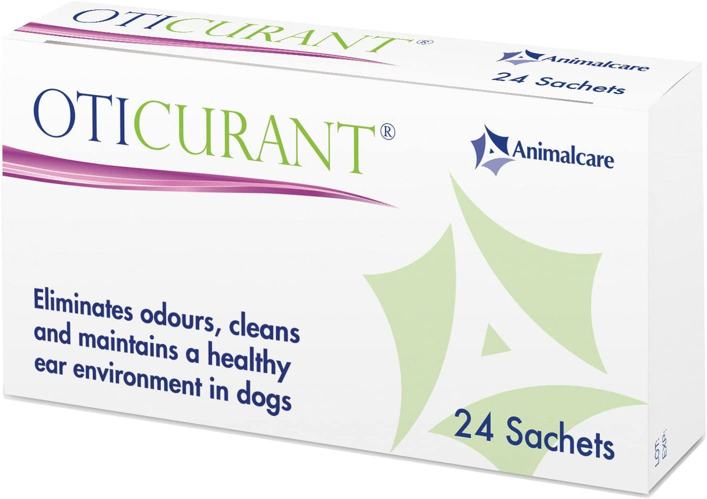Dog Ear Powder and Cleaner - Oticurant 24 Sachets, Prevents Ear Fungi and Bacteria Growth For Pets