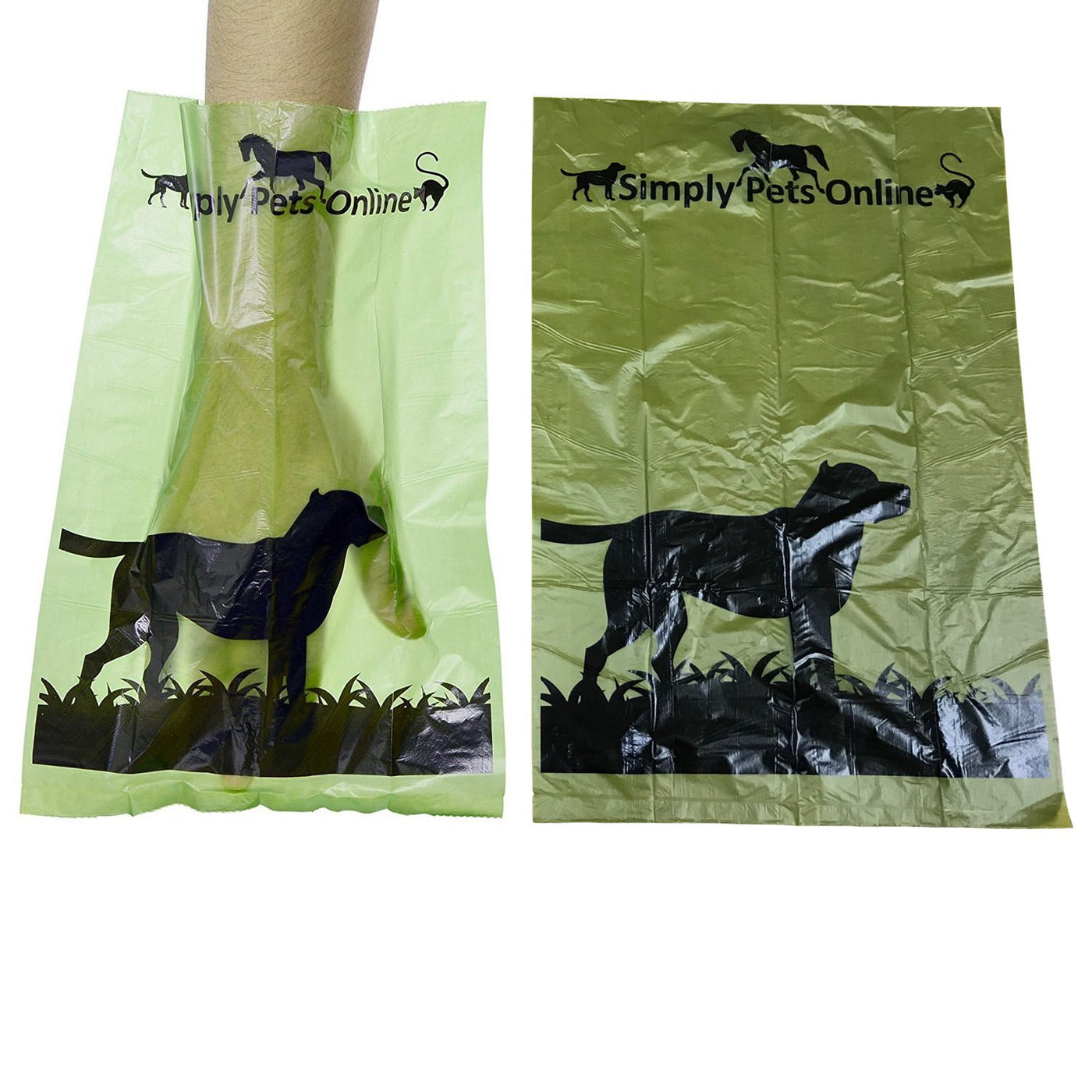 Simply Pets Online Biodegradable 180 Dog Poo Bags 12 Rolls with 15 Poop Bags Per Roll. Designed By 2 Vets These 100% recyclable Dog Dirt Bags Are Eco-friendly